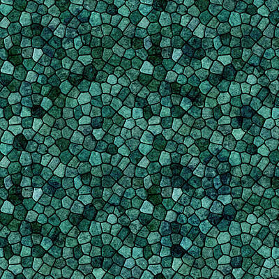 Digital Art - Oceanic Mosaic Crust Texture Abstract Pattern by Taiche Acrylic Art
