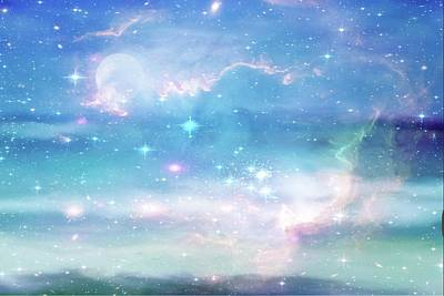 Digital Art - Oceans In The Heavens by Ramona Murdock