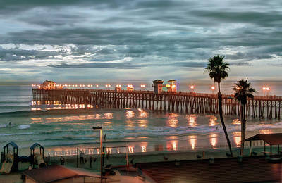 Pier Wall Art - Photograph - Oceanside Pier At Dusk by Ann Patterson