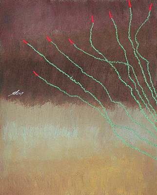 Painting - Ocotillo Original Painting by Sol Luckman