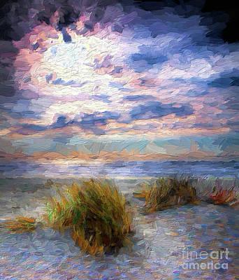 Painting - Ocracoke Winter Dunes V Ap by Dan Carmichael