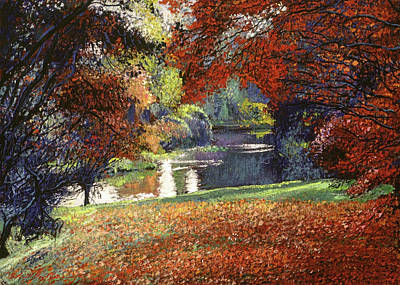 Painting - October Reflects In The Lake by David Lloyd Glover