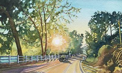 State Word Art - October Road by Luisa Millicent