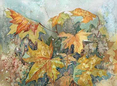 Painting - October Wind by Ina Petrashkevich