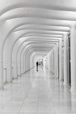Photograph - Oculus Transit Hub Wtc Hallway by Susan Candelario