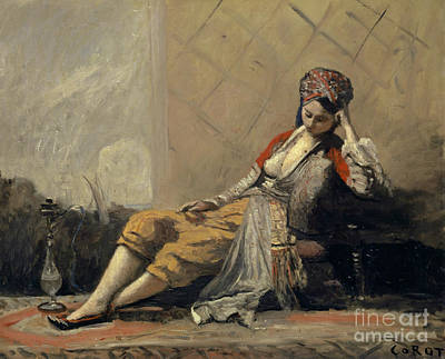 Painting - Odalisque By Corot by Jean Baptiste Camille Corot