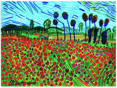 Drawing - Ode To Van Gogh by Susan Schanerman