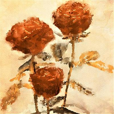 Painting - Of Old Roses And Long Ago Loves by Diane Chandler