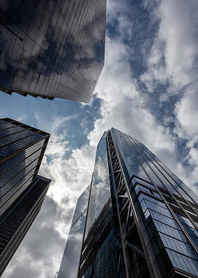 Photograph - Office Buildings Sky And Clouds by Robert Ullmann