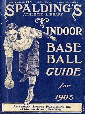 Painting - Official Indoor Base Ball Guide Containing The Constitution 1905 by Celestial Images