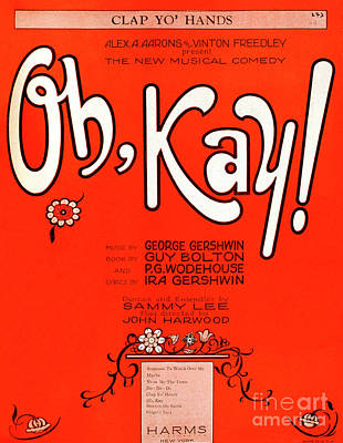 Drawing - Oh Kay By George Gershwin by English School