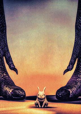 Digital Art - Oh No Mister Bunny by Bob Orsillo