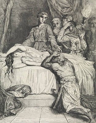 Relief - Oh Oh Oh - Plate 14 From Othello by Theodore Chasseriau