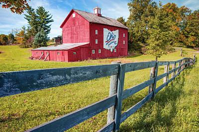 Photograph - Ohio Bicentennial Barn In Autumn 1803 - 2003 by Gregory Ballos
