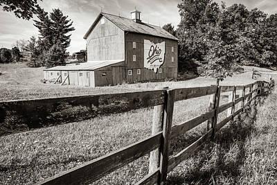 Photograph - Ohio Bicentennial Barn In Sepia 1803 - 2003 by Gregory Ballos