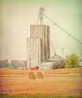 Photograph - Ohio Farm Rolls Of Hay by Dan Sproul