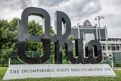 Photograph - Ohio Sign At The Ohio State University by John McGraw