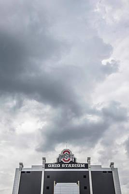 Photograph - Ohio Stadium And Sky  by John McGraw