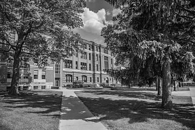 Photograph - Ohio State University Black And White 1 by John McGraw