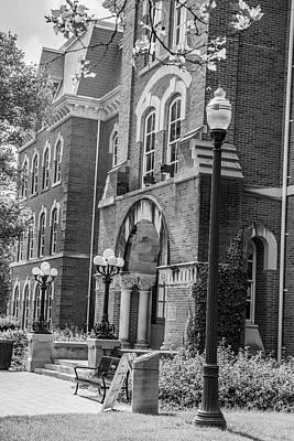 Photograph - Ohio State University Black And White 10 by John McGraw