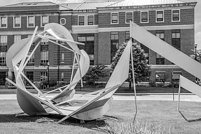 Photograph - Ohio State University Black And White 2 by John McGraw