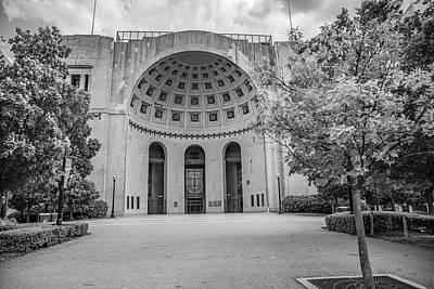Photograph - Ohio State University Black And White 21 by John McGraw