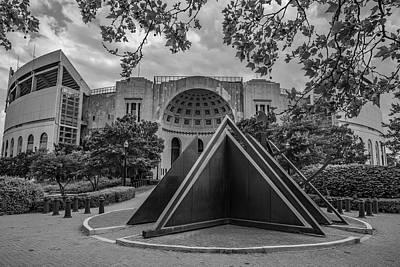 Photograph - Ohio State University Black And White 23 by John McGraw