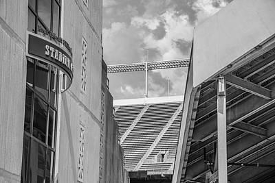 Photograph - Ohio State University Black And White 27 by John McGraw