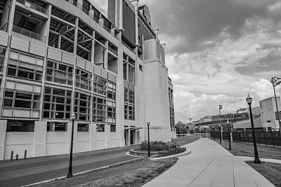 Photograph - Ohio State University Black And White 29 by John McGraw