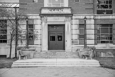 Photograph - Ohio State University Black And White 3 by John McGraw
