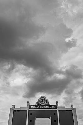 Photograph - Ohio State University Black And White 33 by John McGraw