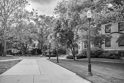 Photograph - Ohio State University Black And White 4 by John McGraw