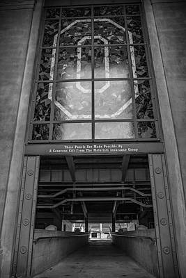 Photograph - Ohio State University Black And White The O 2 by John McGraw
