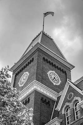 Photograph - Ohio State University Black And White University Hall 1 by John McGraw