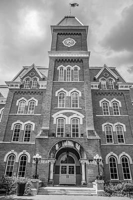 Photograph - Ohio State University Black And White University Hall  2 by John McGraw