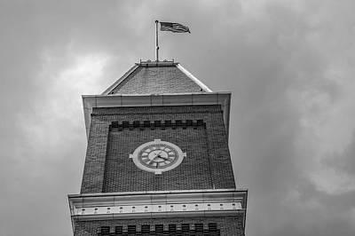 Photograph - Ohio State University Black And White University Hall  3 by John McGraw