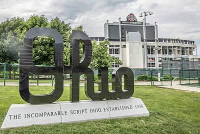 Photograph - Ohio University Sign  by John McGraw
