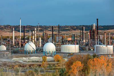 Photograph - Oil Refinery by Todd Klassy