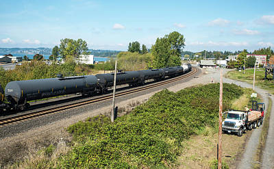 Photograph - Oil Train From Canada by Tom Cochran