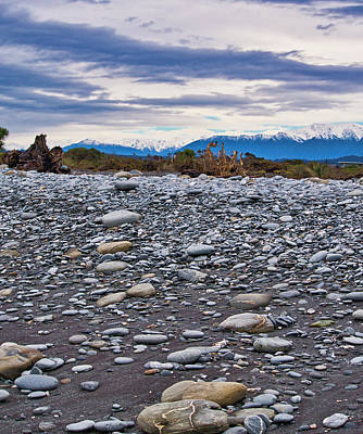 Photograph - Okarito Beach And Nz Alps by Steven Ralser
