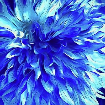 Blue Digital Art - O'keefe  by Cindy Greenstein