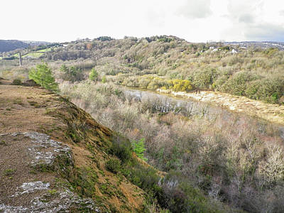 Photograph - Okel Tor From Gawton Mine River Tamar Valley Cornwall by Richard Brookes