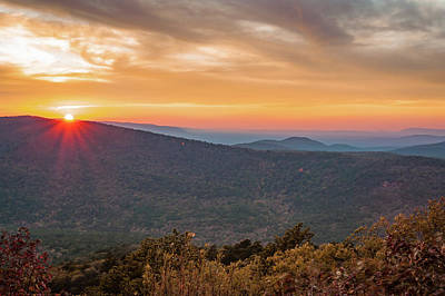 Photograph - Oklahoma Ouachita Mountain Sunset - Talimena Scenic Byway by Gregory Ballos