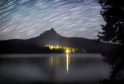 Photograph - Olallie Star Trails by Cat Connor