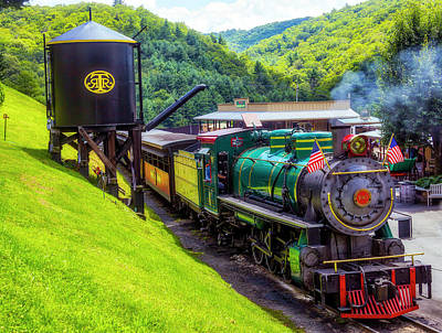 Photograph - Old 190 Baldwin Locomotive And Water Tank by Garry Gay
