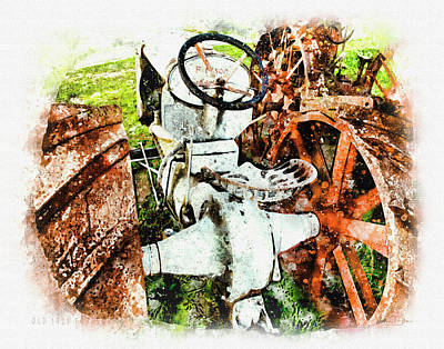 Digital Art - Old 1921 Fordson  by Mark Allen