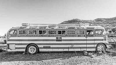 Photograph - Old Abandoned Vintage Bus Jerome Arizona by Edward Fielding