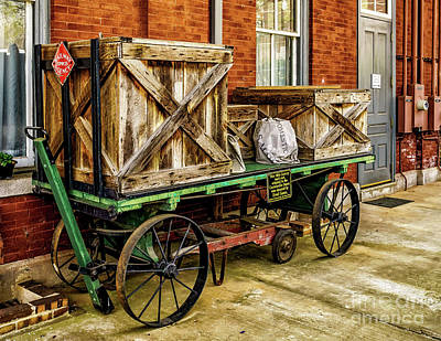 Photograph - Old Baggage Cart by Nick Zelinsky