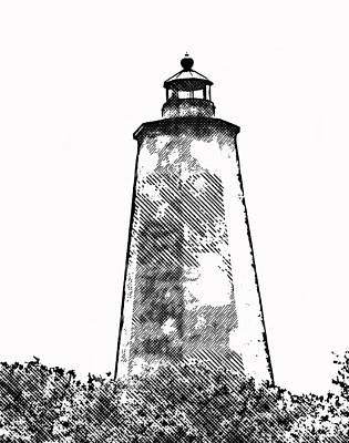 Black And White Flower Photography - Old Baldy Sketch 2 by Cathy Lindsey