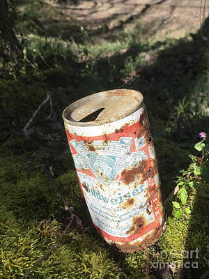 Photograph - Old Beer Can by Phil Perkins